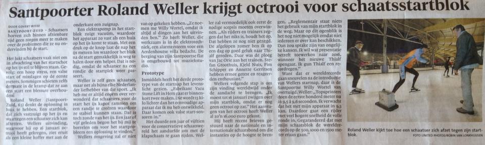 Kranten artikel IJmuider courant